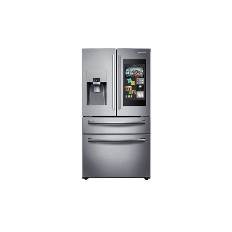 Samsung Family Hub Review >> Samsung Family Hub 27 7 Cu Ft 4 Door French Door Refrigerator With