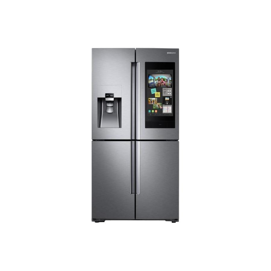 Samsung Family Hub Wi Fi Enabled 27 9 Cu Ft 4 Door French Refrigerator With Ice Maker Fingerprint Resistant Stainless Steel Energy Star