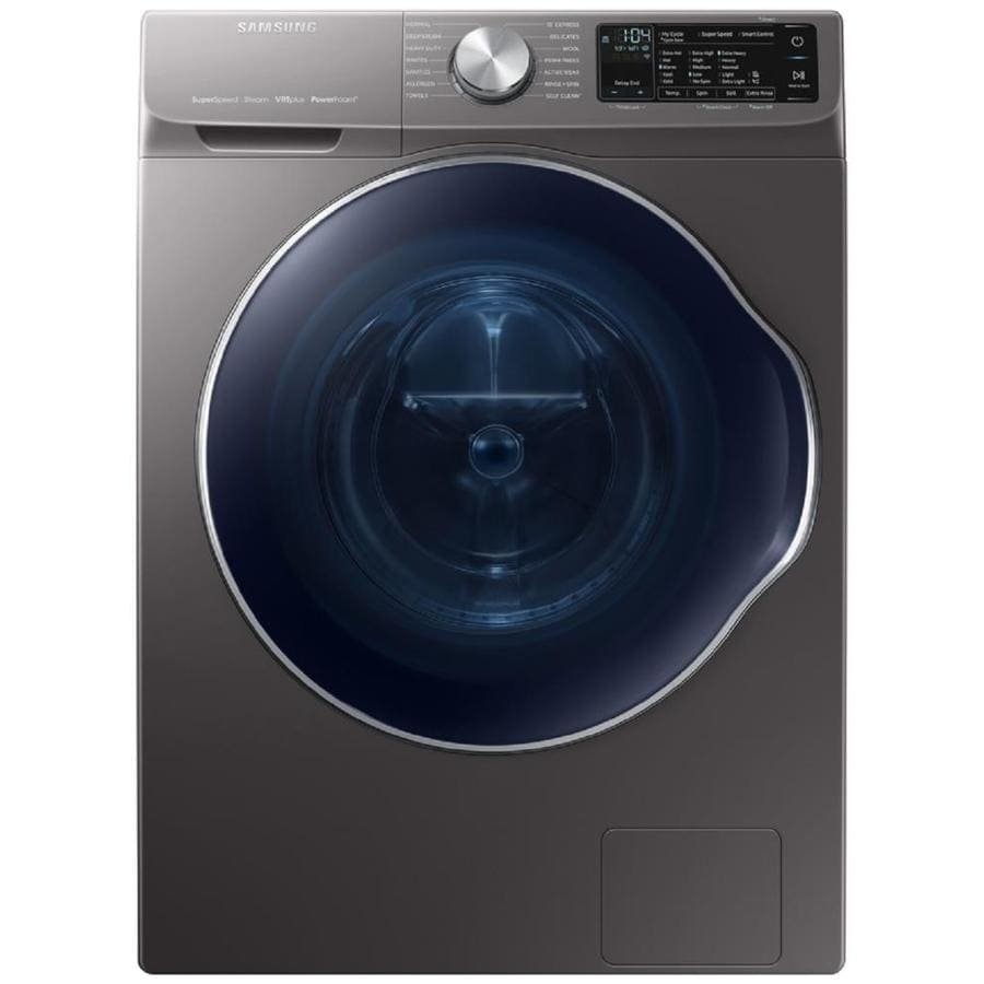 Samsung High Efficiency Stackable Front Load Washer With Steam Cycle Inox Grey