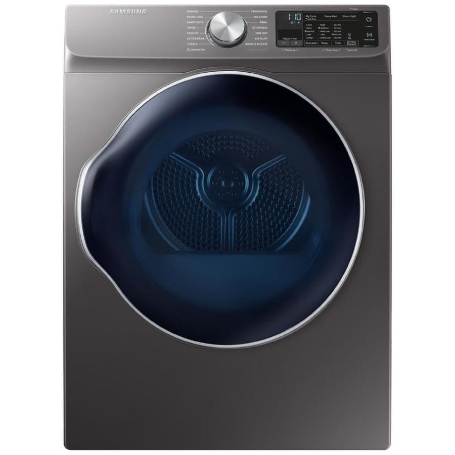 Samsung 4 Cu Ft Side Swing Stackable Electric Dryer Inox Grey