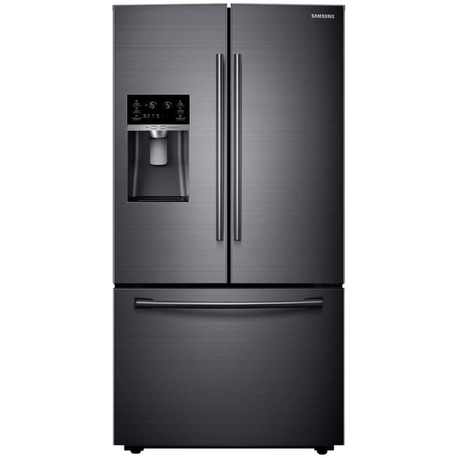 Shop Samsung 22 Cu Ft Counter Depth French Door Refrigerator With