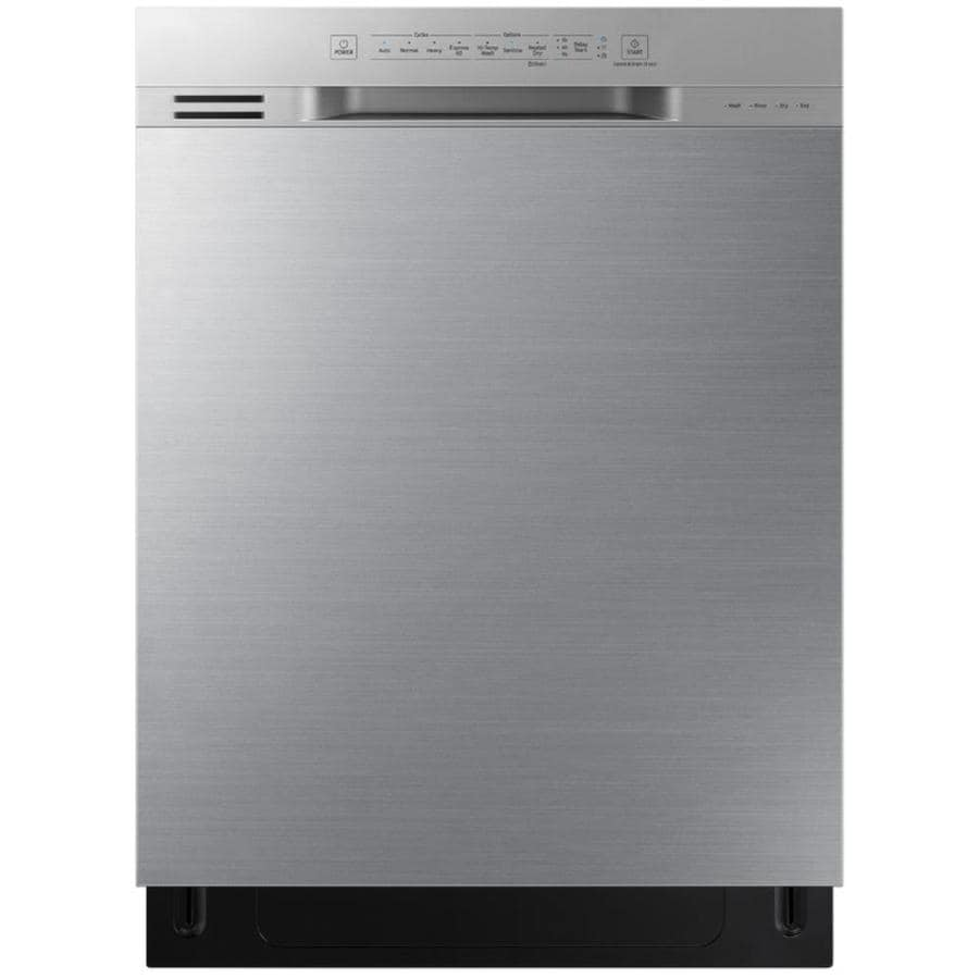 shop samsung 24 in fingerprint resistant stainless steel dishwasher rh lowes com