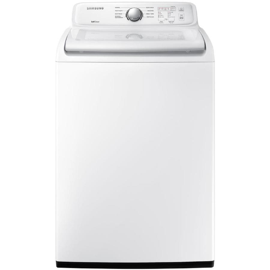 Samsung 4 5 Cu Ft Top Load Washer White At Lowes Com