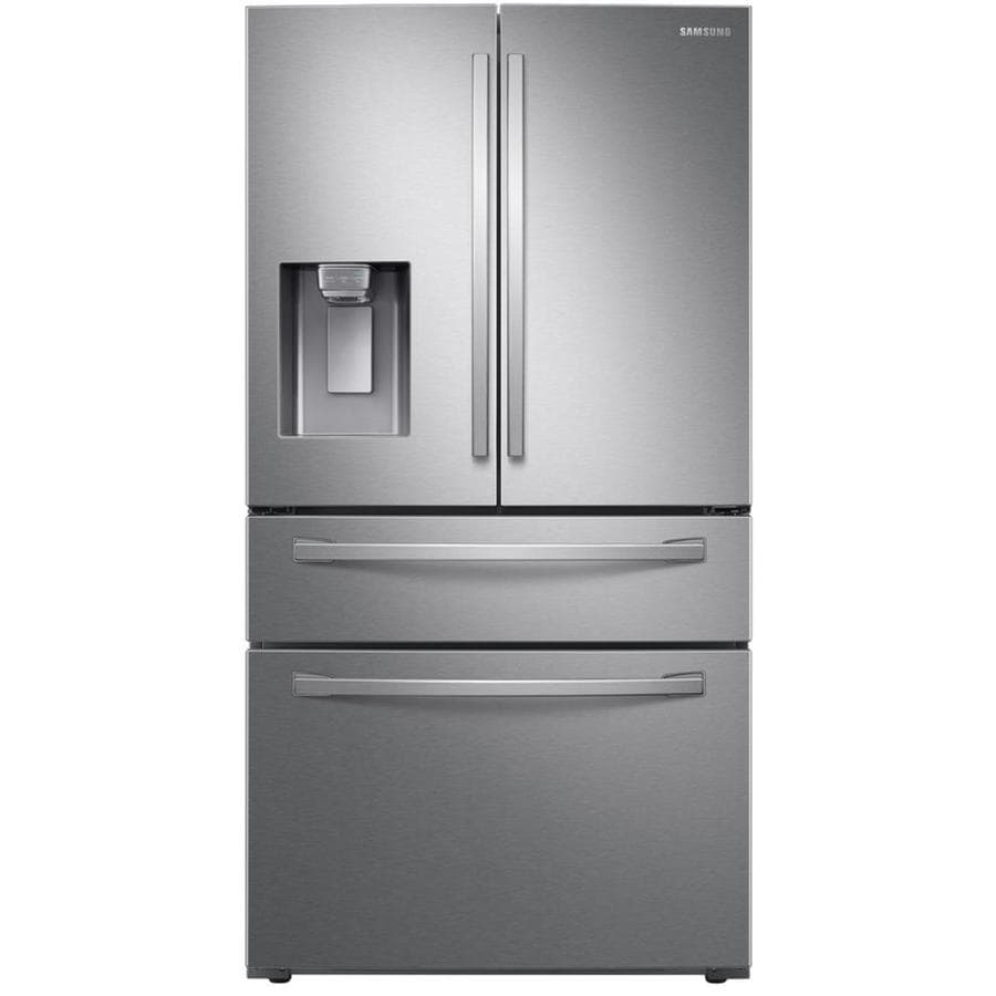 Samsung 28-cu ft 4-Door Standard-Depth French Door Refrigerator with