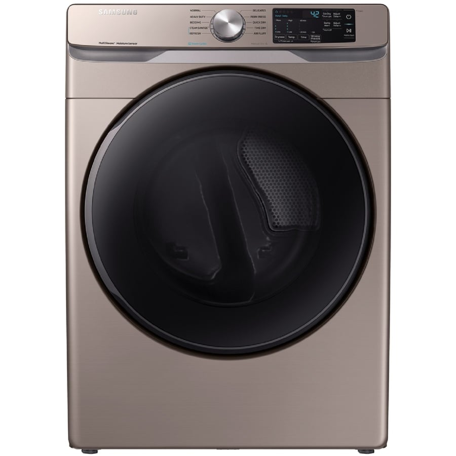 Samsung 7 5 Cu Ft Stackable Gas Dryer Champagne At Lowes Com