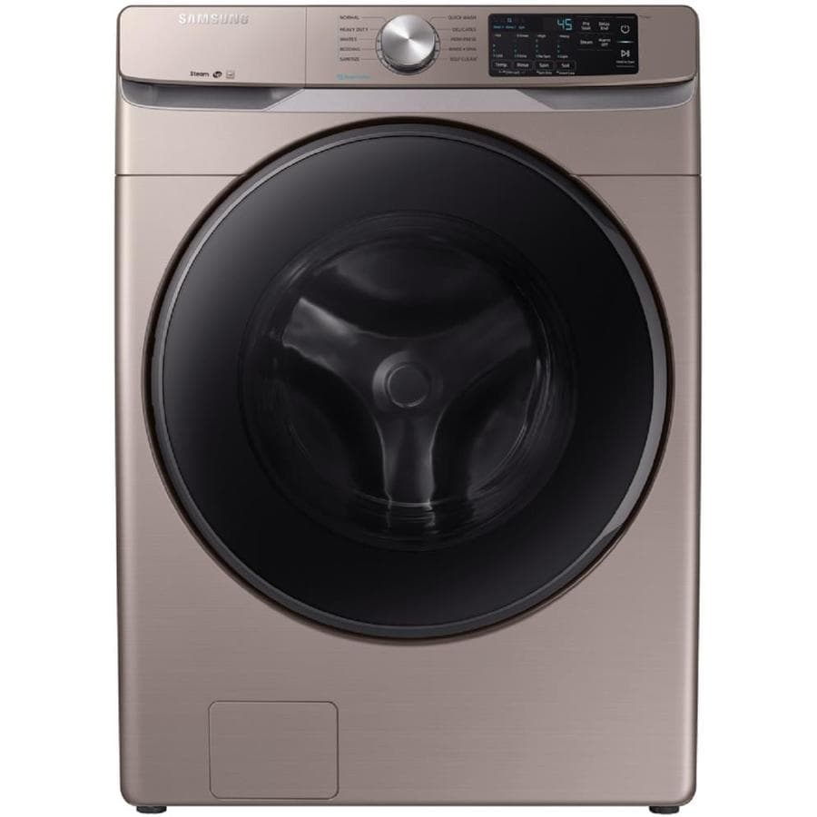 Samsung 4 5 Cu Ft High Efficiency Stackable Front Load Washer Champagne Energy Star