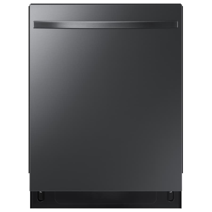 Samsung Stormwash 48 Decibel Top Control 24 In Built In Dishwasher Fingerprint Resistant Black Stainless Steel Energy Star In The Built In Dishwashers Department At Lowes Com