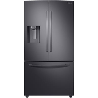 Samsung 22.6-cu ft Counter-Depth French Door Refrigerator with Ice Maker (Fingerprint-Resistant Black Stainless Steel) ENERGY STAR