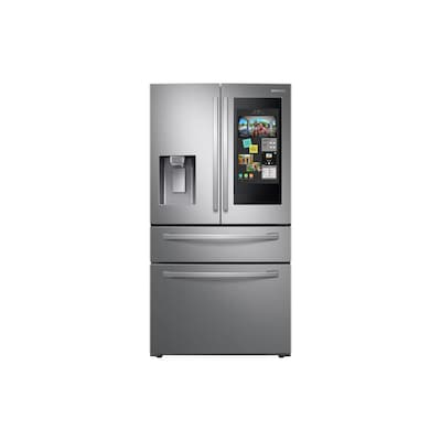 Samsung Family Hub 22 Cu Ft 4 Door Counter Depth French Door Refrigerator With Ice Maker (Fingerprint Resistant Stainless Steel) Energy Star by Lowe's