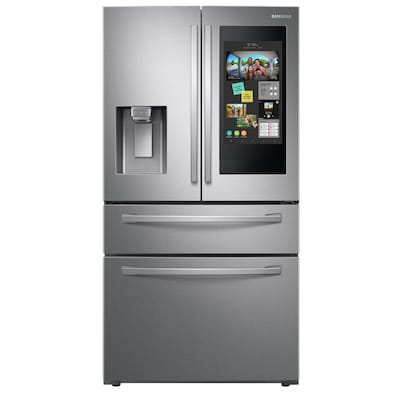 Samsung Family Hub 27.7-cu ft 4-Door French Door Refrigerator with Ice Maker (Fingerprint-Resistant Stainless Steel) ENERGY STAR