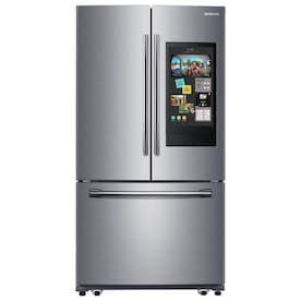 Samsung Family Hub Family Hub 25.1-cu ft French Door Refrigerator with Ice Maker (Stainless Steel) ENERGY STAR