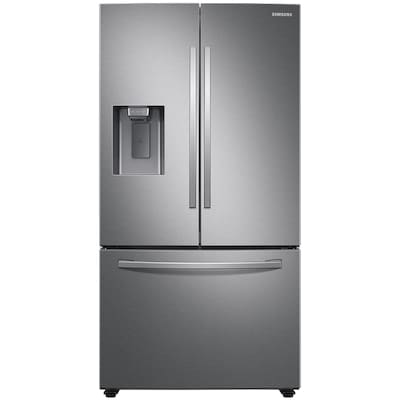 Samsung 27-cu ft French Door Refrigerator with Dual Ice Maker (Fingerprint-Resistant Stainless Steel) ENERGY STAR