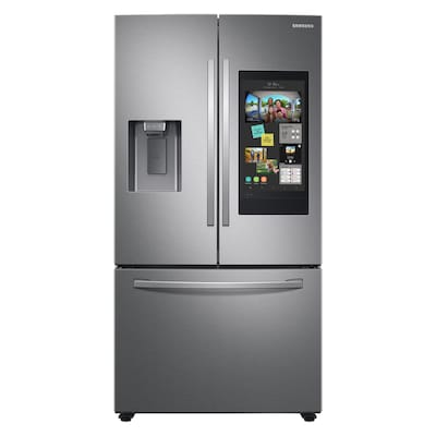Samsung Family Hub Family Hub 26.5-cu ft French Door Refrigerator with Ice Maker (Fingerprint-Resistant Stainless Steel) ENERGY STAR