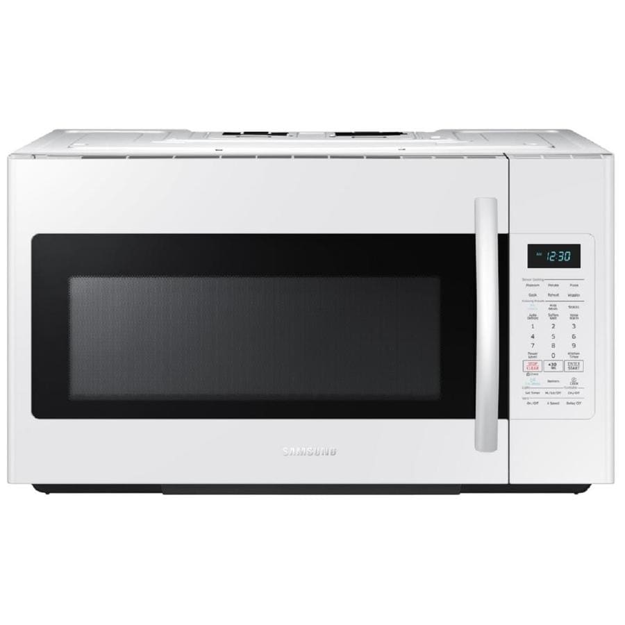 Samsung 1.8-cu ft Over-The-Range Microwave with Sensor Cooking Controls (White) (Common: 30-in; Actual: 29.87-in)
