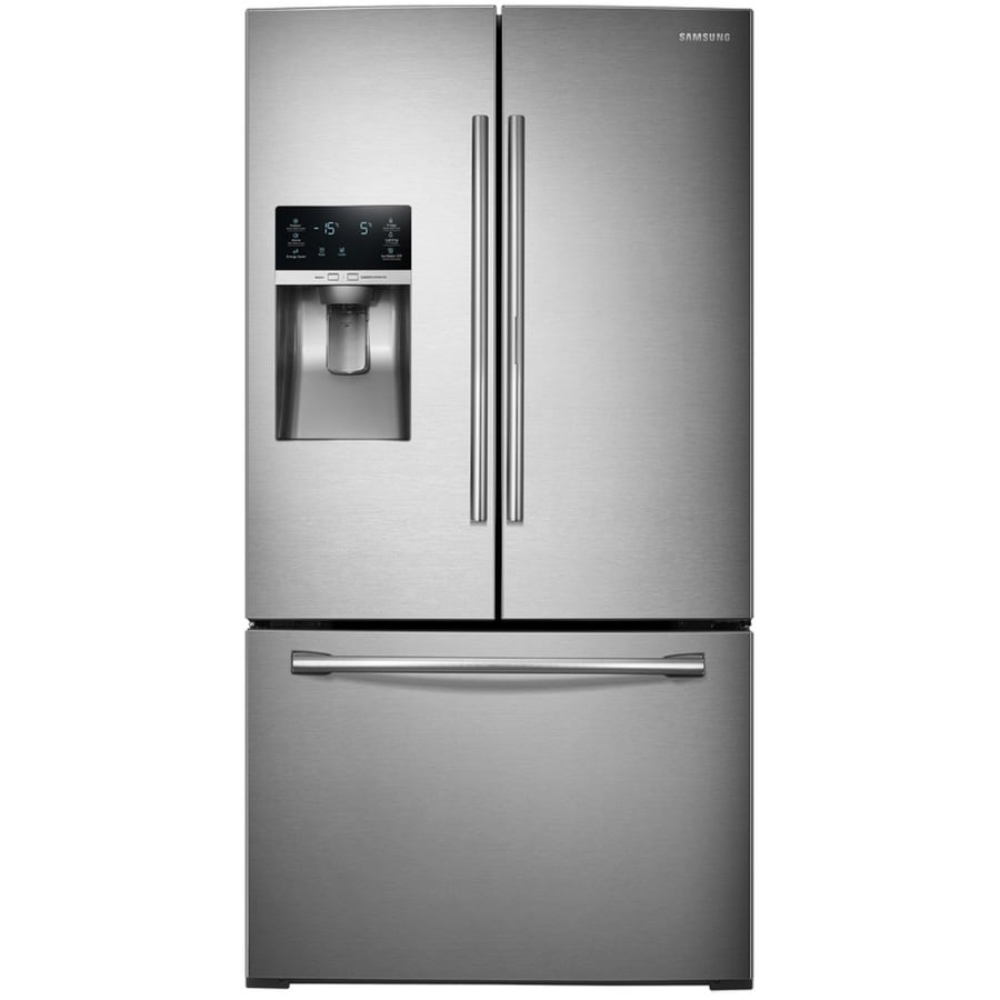 Samsung Food Showcase 27.8-cu ft French Door Refrigerator with Ice Maker and Door within Door (Stainless Steel) ENERGY STAR