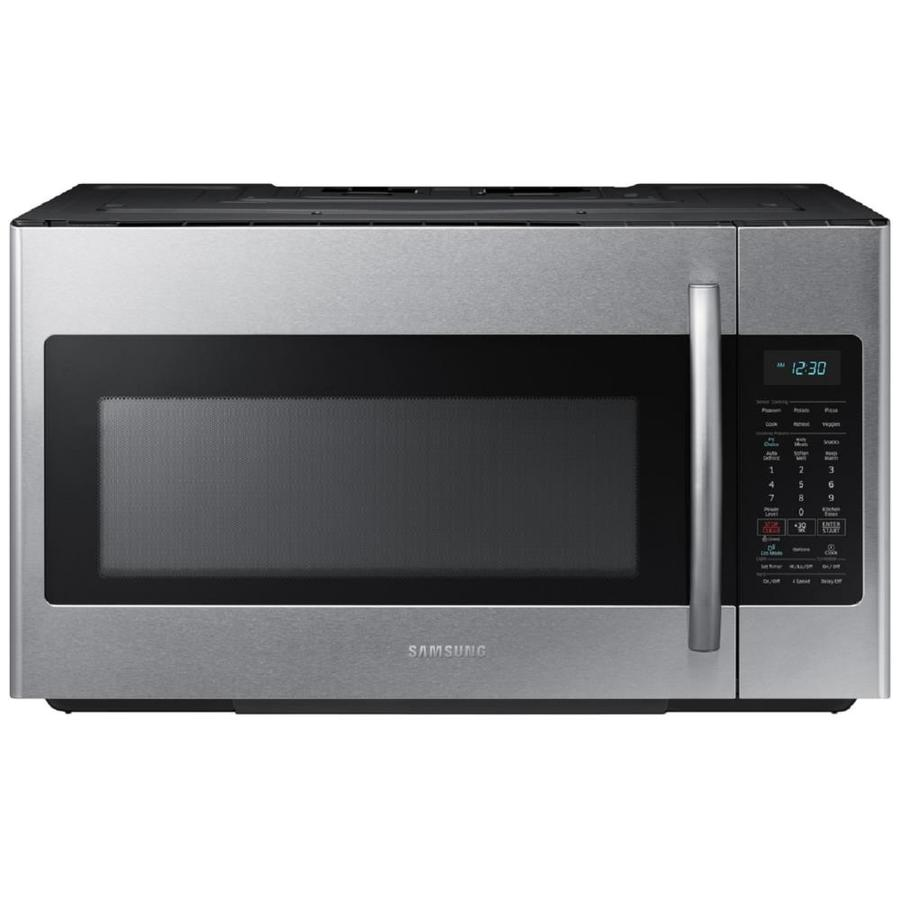 Samsung 1.8-cu ft Over-The-Range Microwave with Sensor Cooking Controls (Stainless Steel) (Common: 30-in; Actual: 29.87-in)