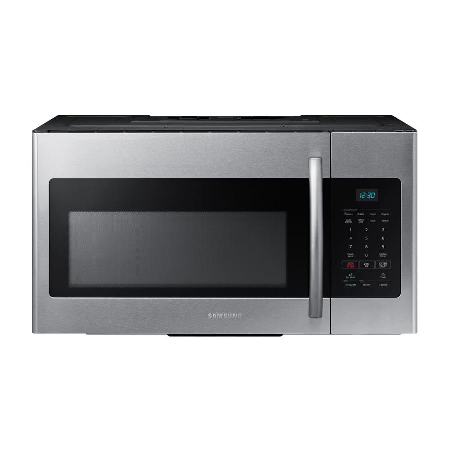 shop samsung 1 6 cu ft fingerprint resistant stainless steel over the range microwave common. Black Bedroom Furniture Sets. Home Design Ideas