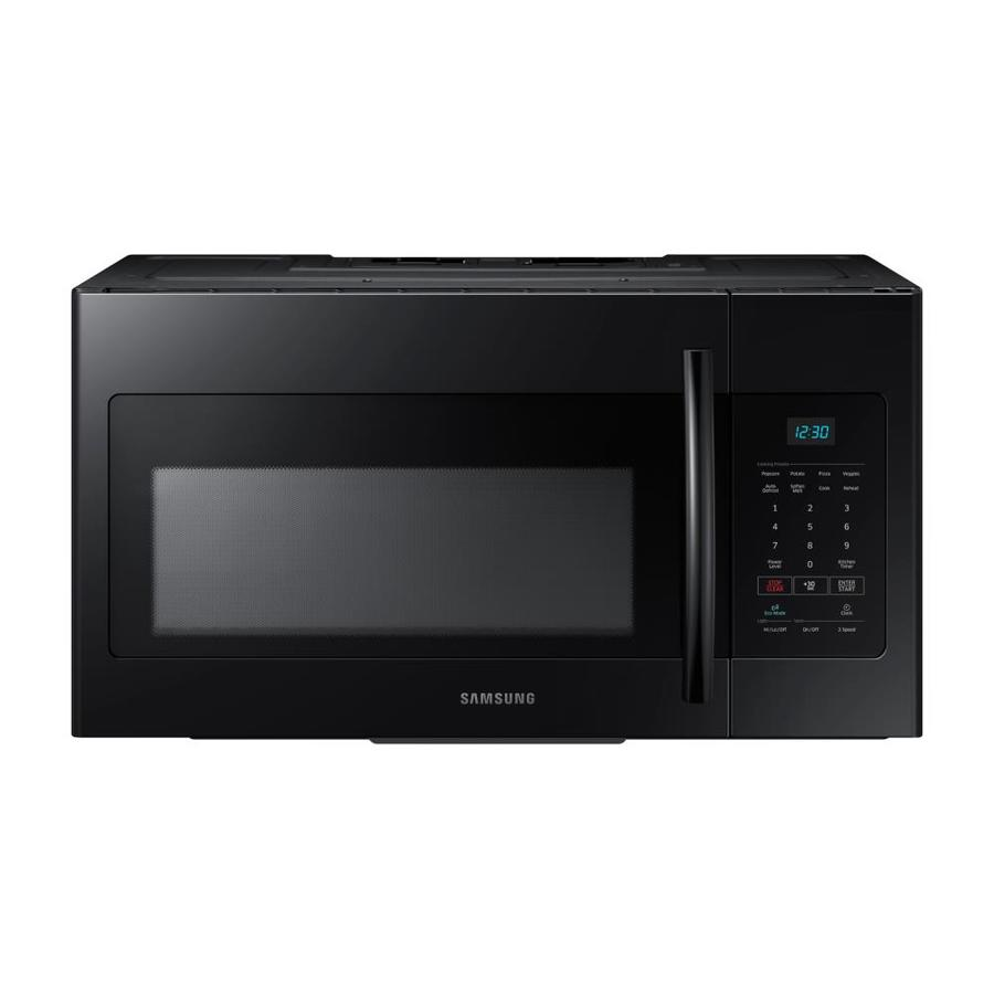 Samsung 1.6-cu ft Over-the-Range Microwave (Black) (Common: 30-in; Actual: 29.875-in)