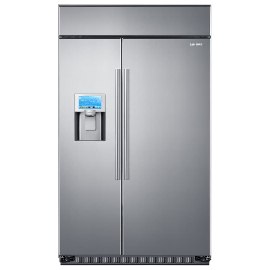 shop samsung true 26 5 cu ft built in side by side refrigerator with ice maker stainless steel. Black Bedroom Furniture Sets. Home Design Ideas