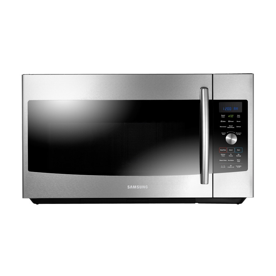 Samsung 1 7 Cu Ft Over The Range Convection Oven Microwave With Sensor Cooking