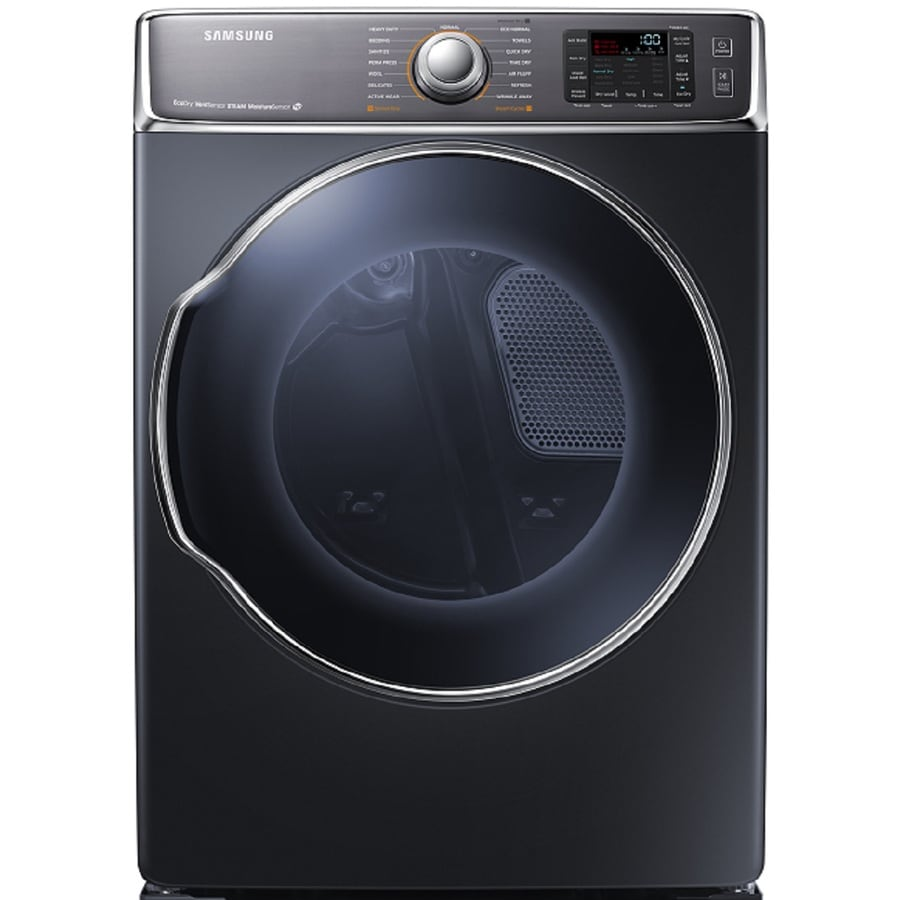 Samsung 9.5-cu ft Stackable Electric Dryer with Steam Cycle (Onyx)