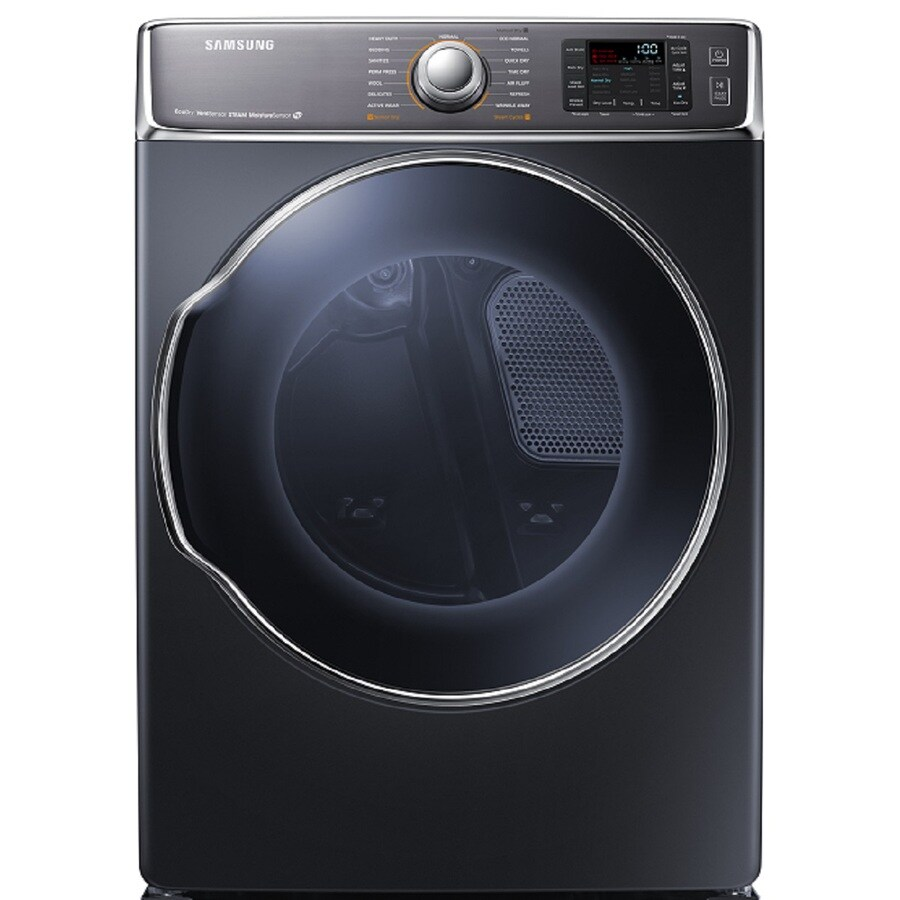 Samsung 9 5 Cu Ft Stackable Gas Dryer Onyx At Lowes Com