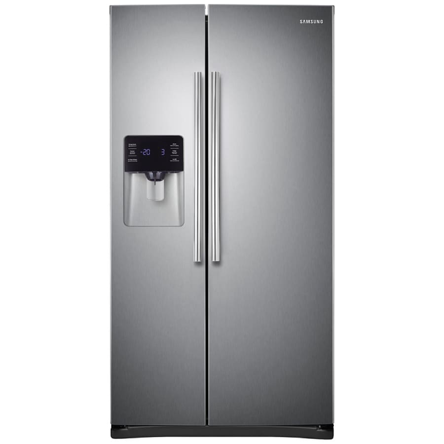 shop samsung 24 5 cu ft side by side refrigerator with ice maker stainless steel energy star. Black Bedroom Furniture Sets. Home Design Ideas