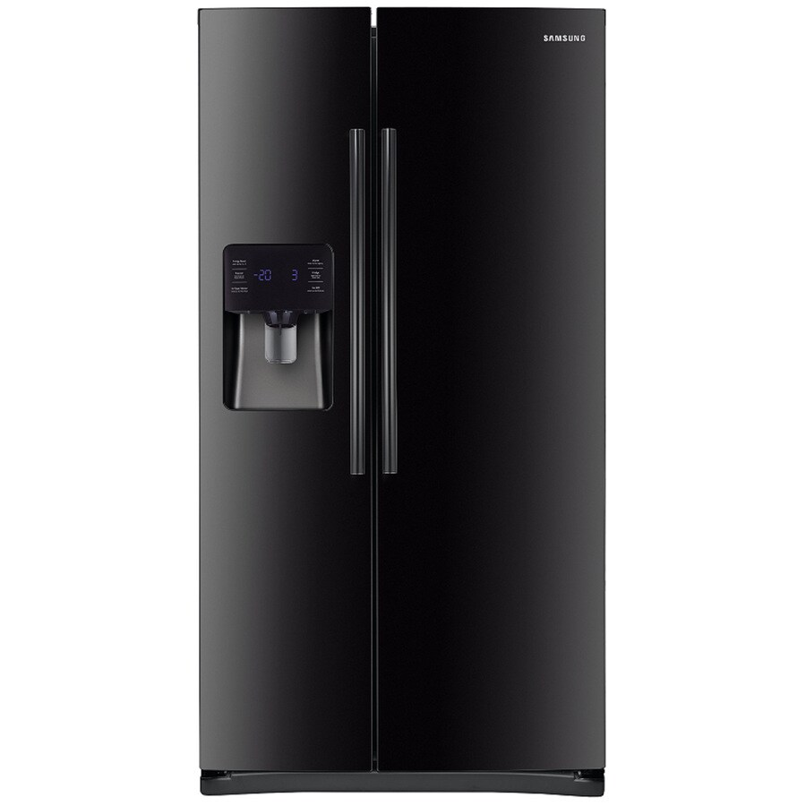 Samsung 24.5-cu ft Side-by-Side Refrigerator with Single Ice Maker (Black) ENERGY STAR