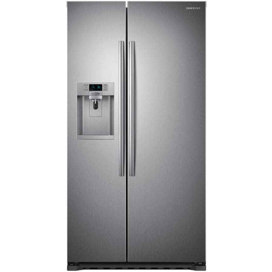 Samsung 22.3-cu ft Counter-Depth Side-by-Side Refrigerator with Ice Maker (Stainless steel) ENERGY STAR