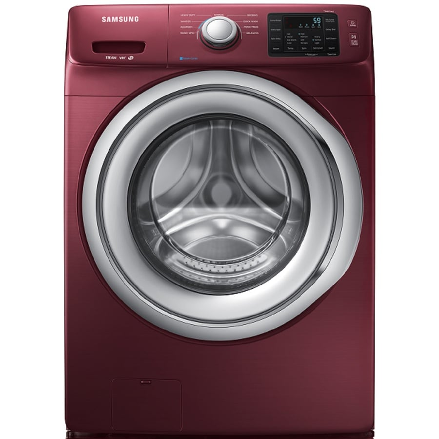 Samsung 4.2-cu ft High-Efficiency Stackable Front-Load Washer (Merlot) ENERGY STAR