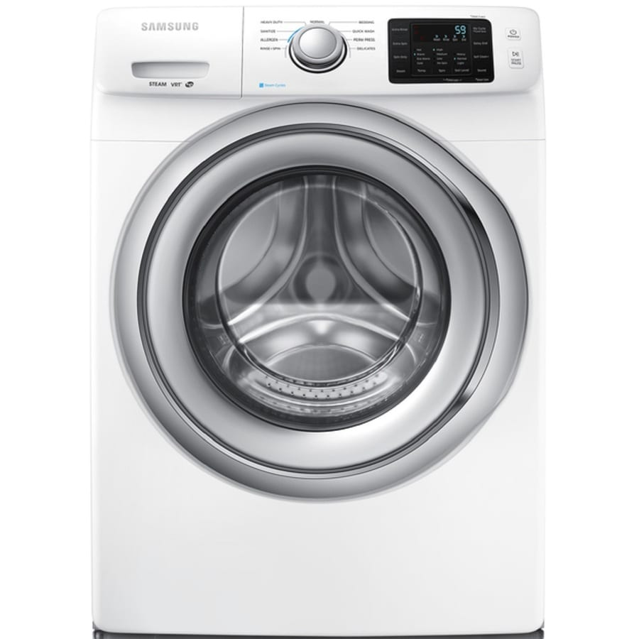 Samsung 4.2-cu ft High-Efficiency Stackable Front-Load Washer with Steam Cycle (White) ENERGY STAR