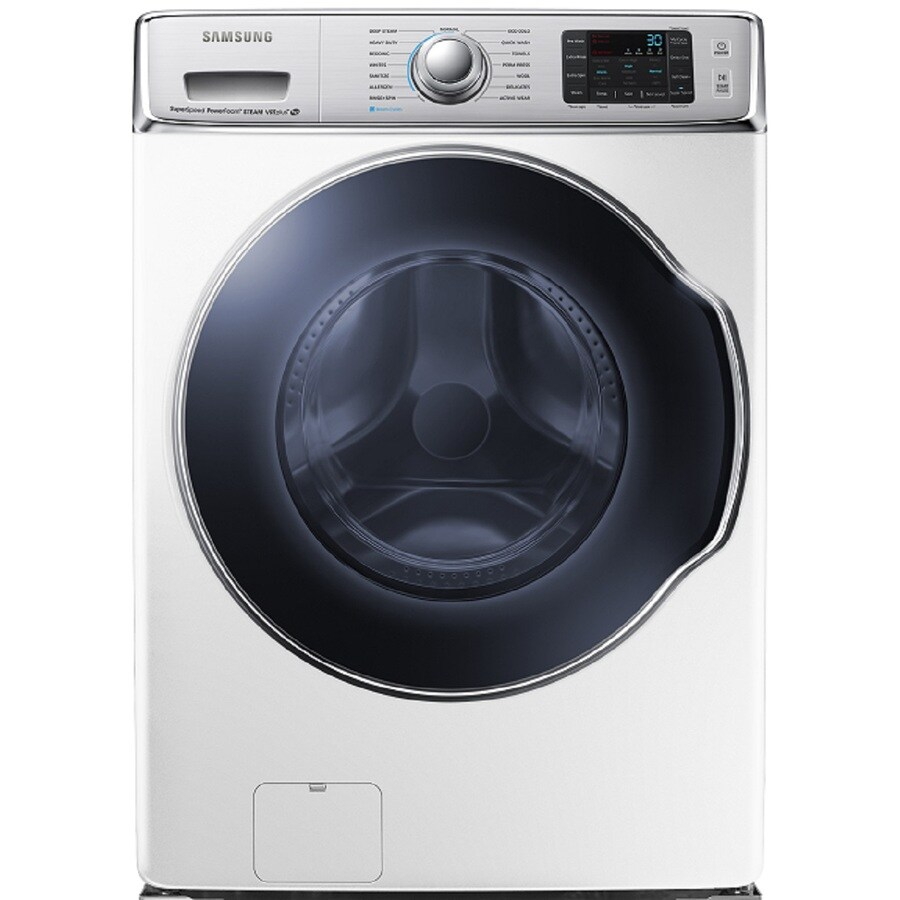 Samsung 5.6-cu ft High-Efficiency Stackable Front-Load Washer (White)