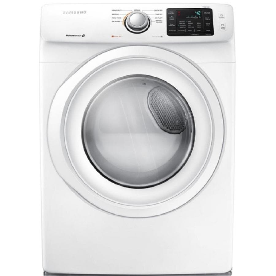 Samsung 7.5-cu ft Stackable Electric Dryer (White)
