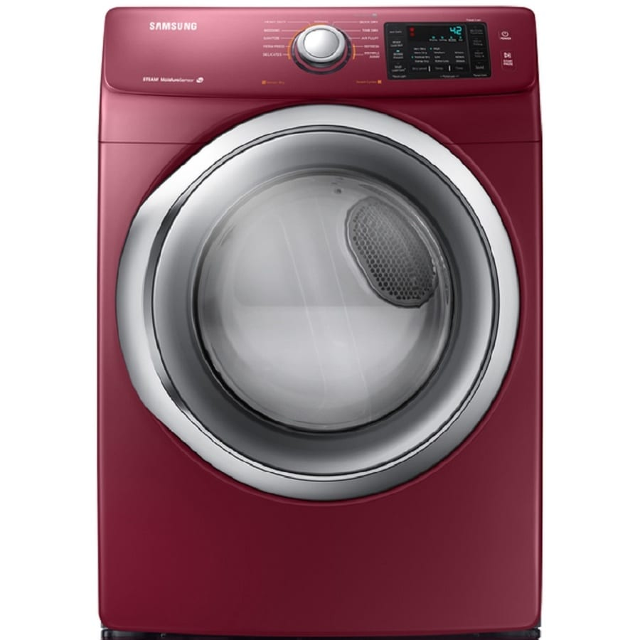 Samsung 7.5-cu ft Stackable Electric Dryer with Steam Cycle (Merlot)