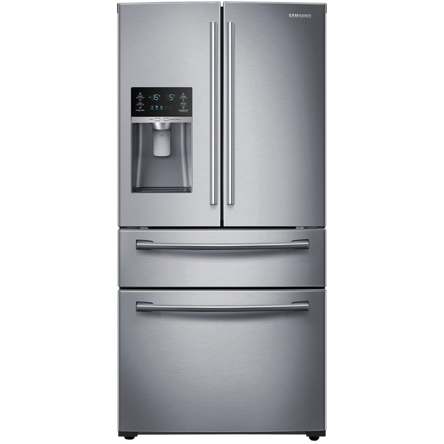 Samsung 28.15-cu ft 4-Door French Door Refrigerator with Single Ice Maker (Stainless Steel) ENERGY STAR