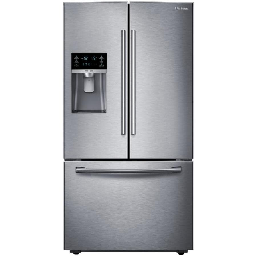 Samsung 28.07-cu ft French Door Refrigerator with Dual Ice Maker (Stainless steel)  sc 1 st  Lowe\u0027s & Shop Samsung 28.07-cu ft French Door Refrigerator with Dual Ice ...