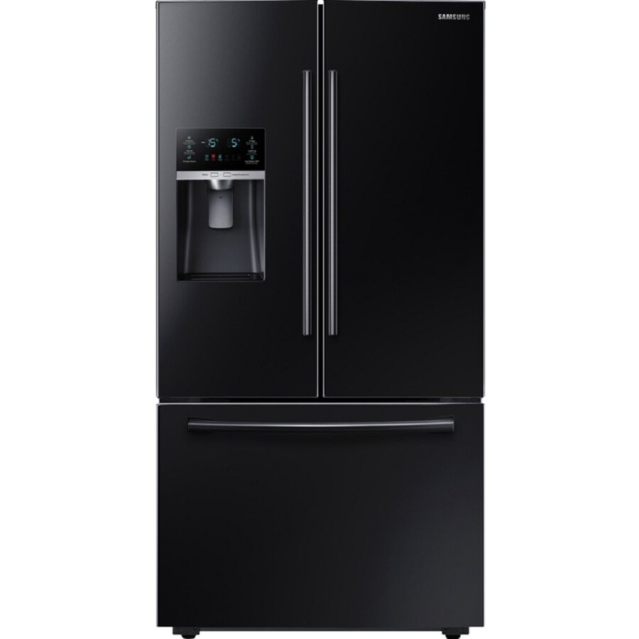 shop samsung ft french door refrigerator with ice maker black energy star at. Black Bedroom Furniture Sets. Home Design Ideas