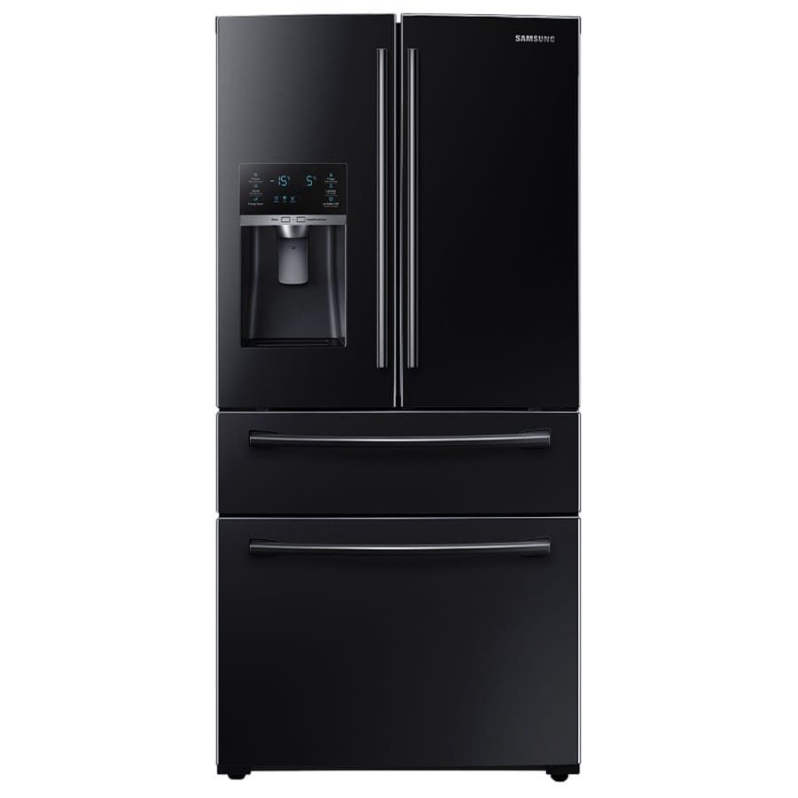 Samsung 28.15-cu ft 4-Door French Door Refrigerator with Single Ice Maker (Black) ENERGY STAR