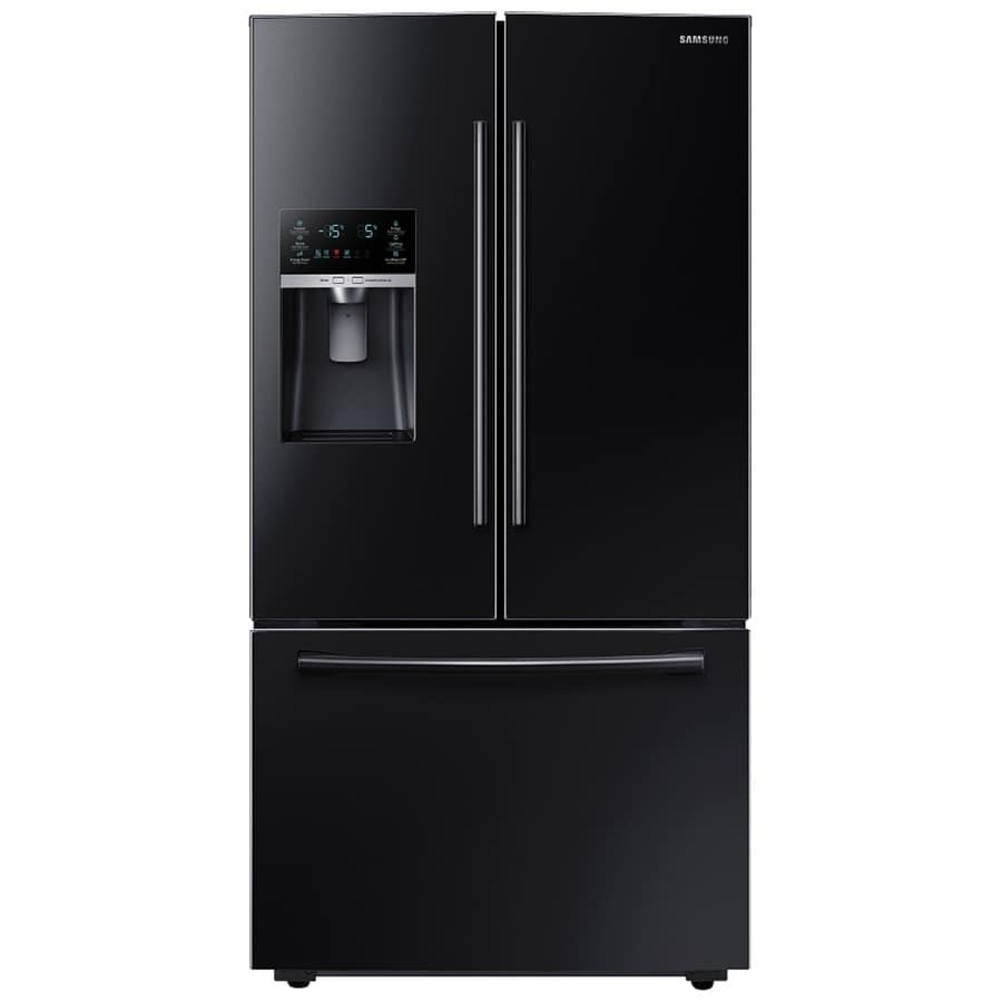 Samsung 22.5-cu ft Counter-Depth French Door Refrigerator with Ice Maker (Black) ENERGY STAR