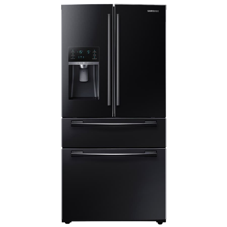 Samsung 24.73-cu ft 4-Door French Door Refrigerator with Single Ice Maker (Black) ENERGY STAR