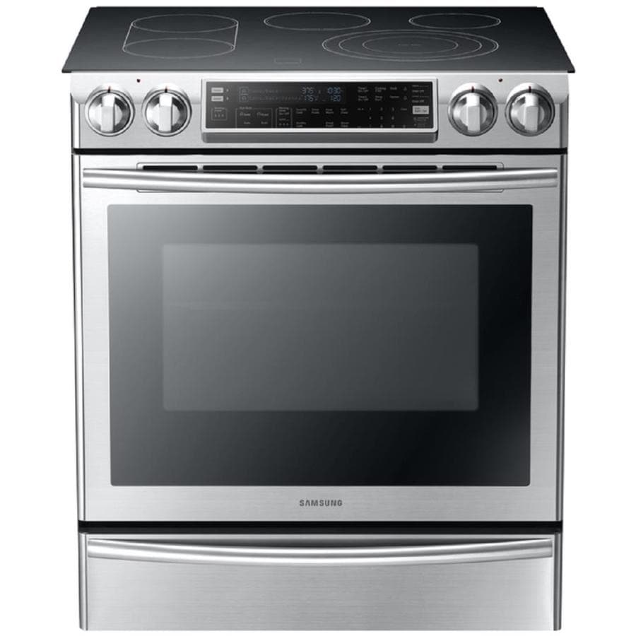 Samsung Smooth Surface 5-Element Self-Cleaning Slide-in Convection Electric Range (Stainless Steel) (Common: 30-in; Actual 29.8-in)