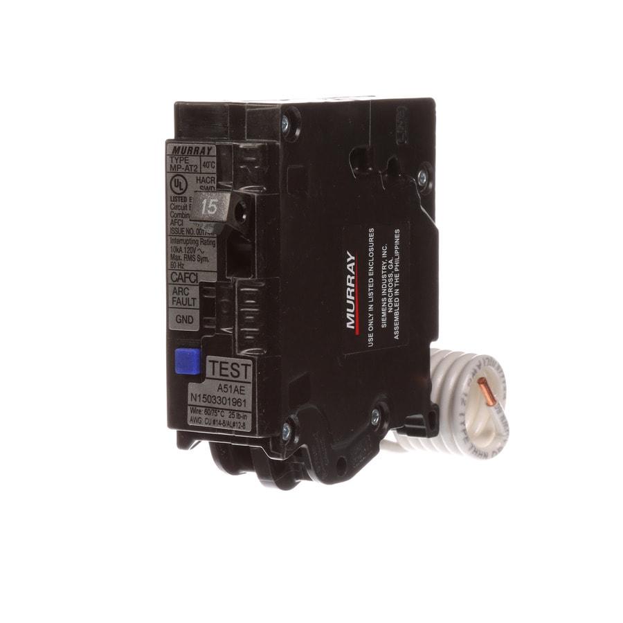 Siemens MP 15-Amp 1-Pole Combination Arc Fault Circuit Breaker