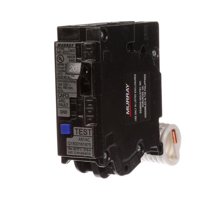 Shop Siemens MP 20-Amp 1-Pole Combination Arc Fault Circuit Breaker ...