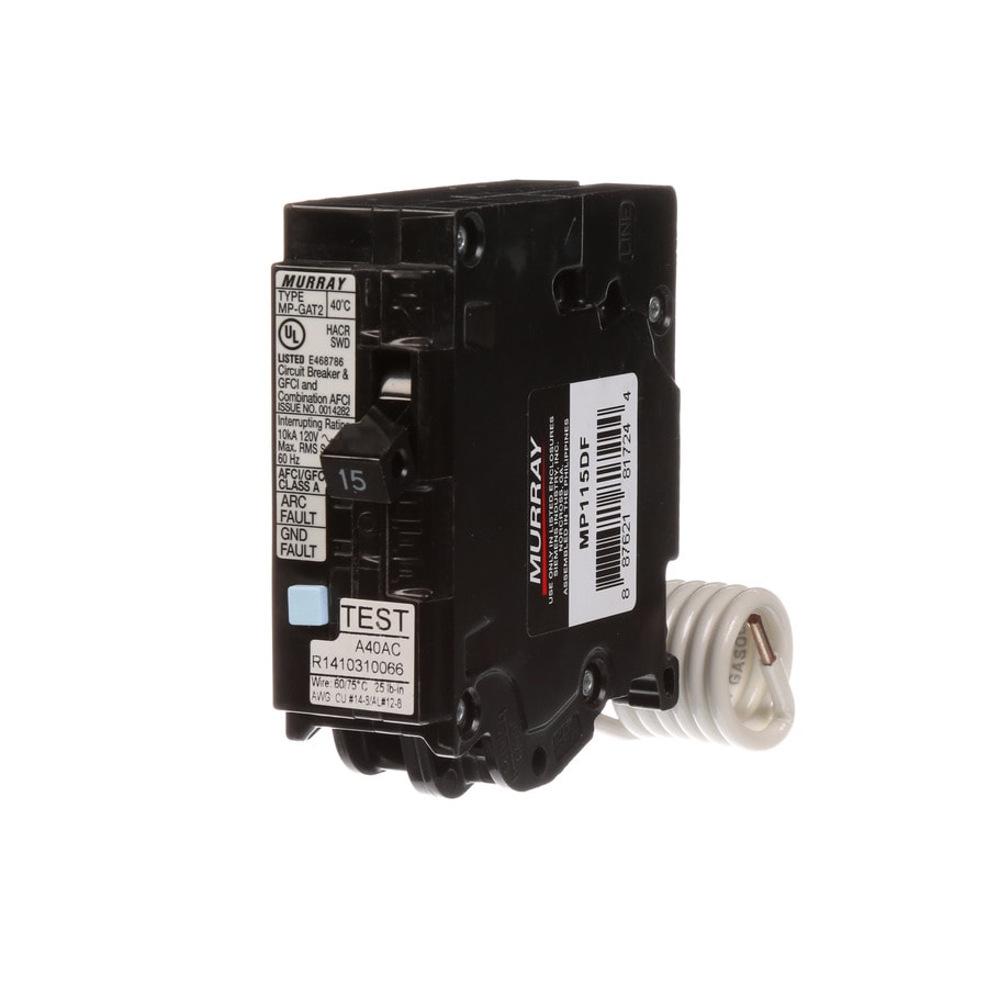 Murray QF 15-Amp 15-Pole Dual Function AFCI/GFCI Circuit Breaker