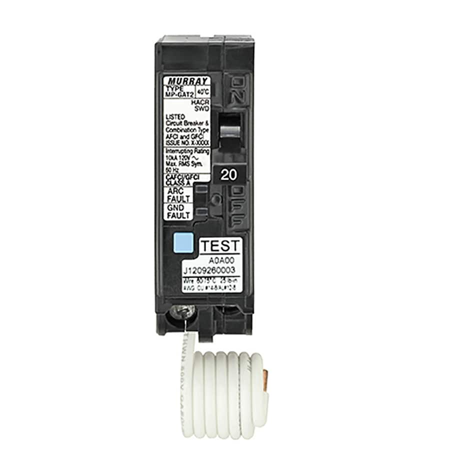 Murray Qf 20 Amp 2 Pole Dual Function Afci Gfci Circuit Breaker
