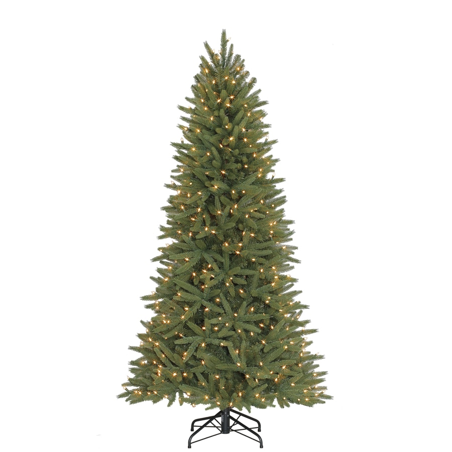 Holiday Living 6.5-ft Pre-Lit Pine Artificial Christmas Tree with White Incandescent Lights