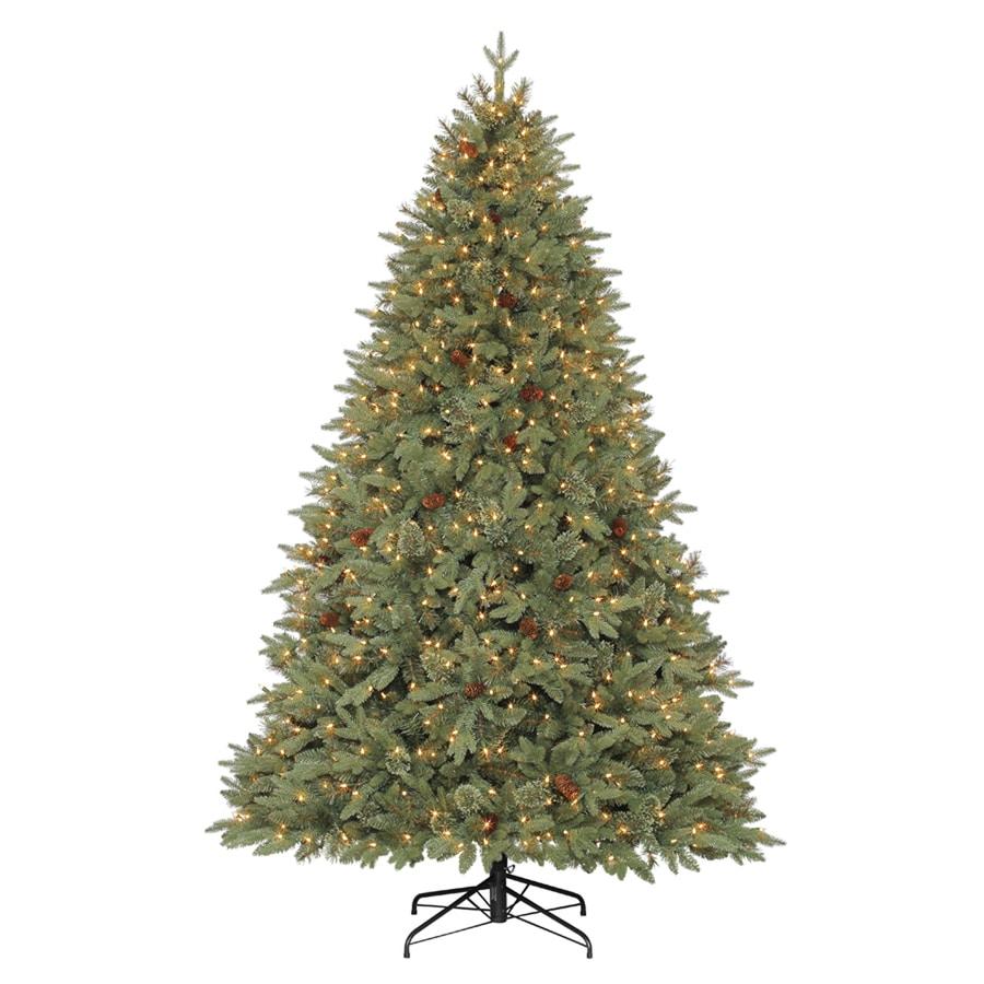 Shop Allen Roth 7 5 Ft Pre Lit Pine Artificial Christmas