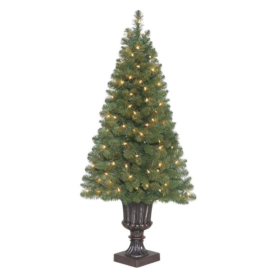 Shop holiday living 4 ft pre lit arctic pine artificial for Christmas tree items list