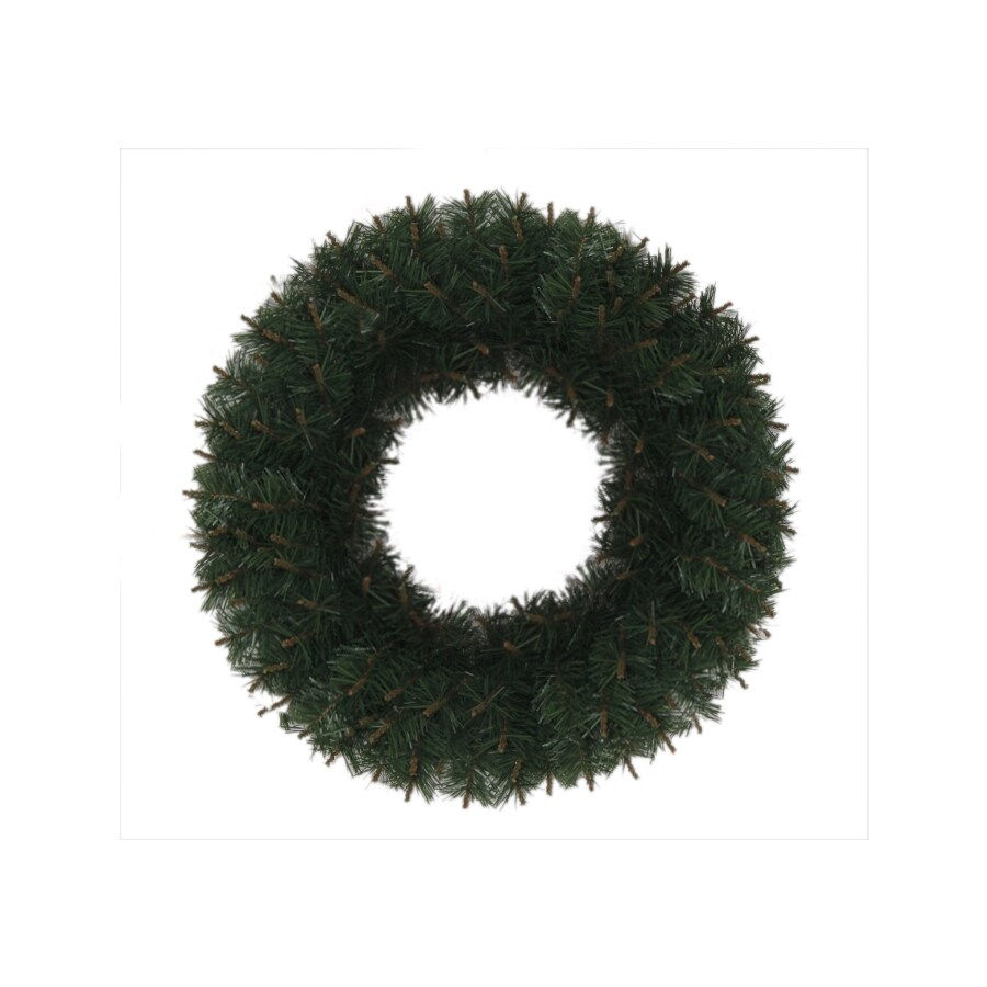 Holiday Living 24-in Un-Lit Indoor/Outdoor Green Monroe Pine Artificial Christmas Wreath