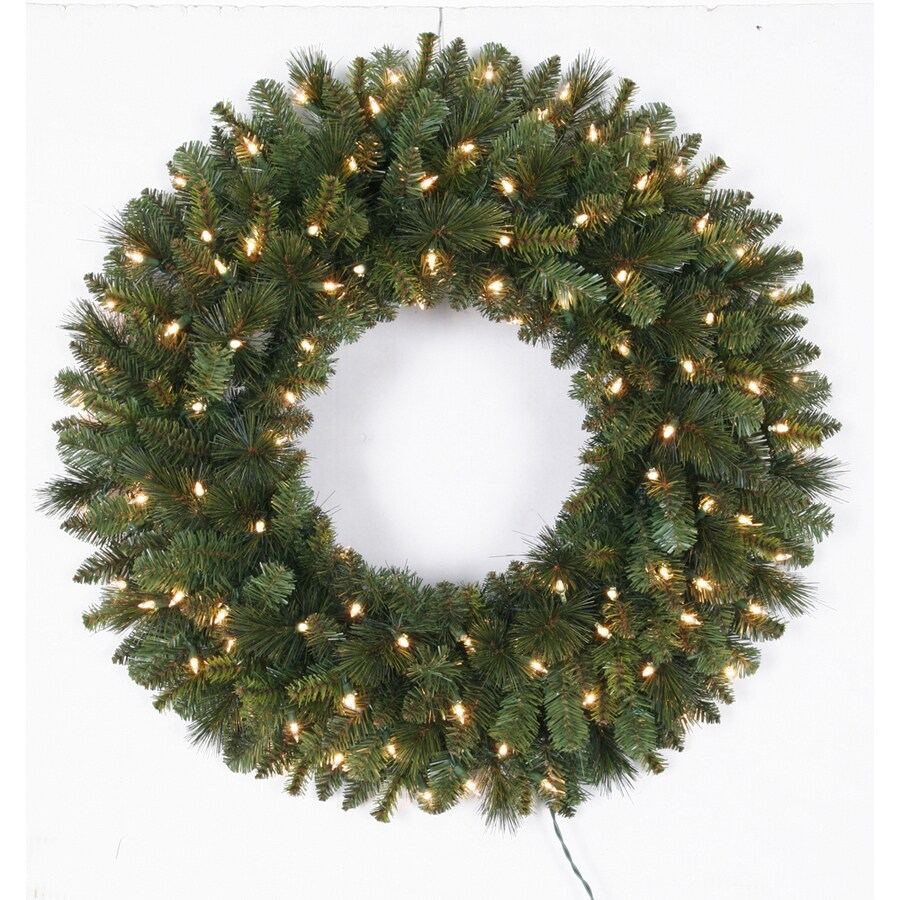 Shop holiday living 30 in pre lit indoor outdoor plug in for Christmas wreath